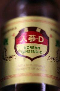 Preparación comercial de ginseng coreano rojo