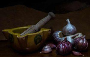 El ajo morado es una variedad que posee idénticas propiedades curativas