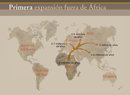 Primera expansión del homo fuera de África