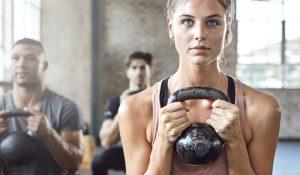 Entrenando la fuerza con pesas