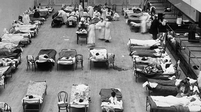 Hospital de emergencia en Oakland (USA) durante la pandemia de gripe de 1918