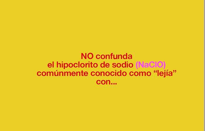 El dióxido de cloro no es lejía (hipoclorito sódico)