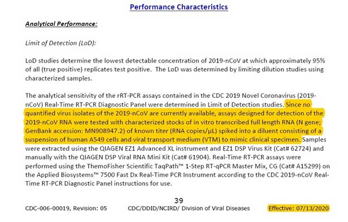Sobre la prueba PCR