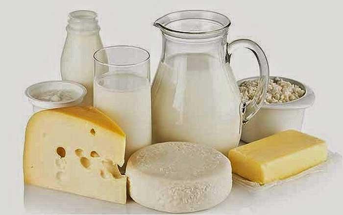 Lácteos, ricos en grasas saturadas