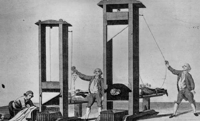 La guillotina, el símbolo de la revolución