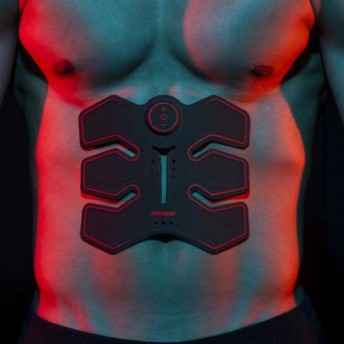 Sencillo electroestimulador abdominal